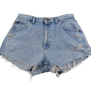 Vintage 90s Lee Light Wash Cutoff Jean Shorts